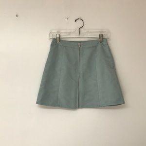 Forever 21 | Faux Suede Light  Blue Mini Skirt
